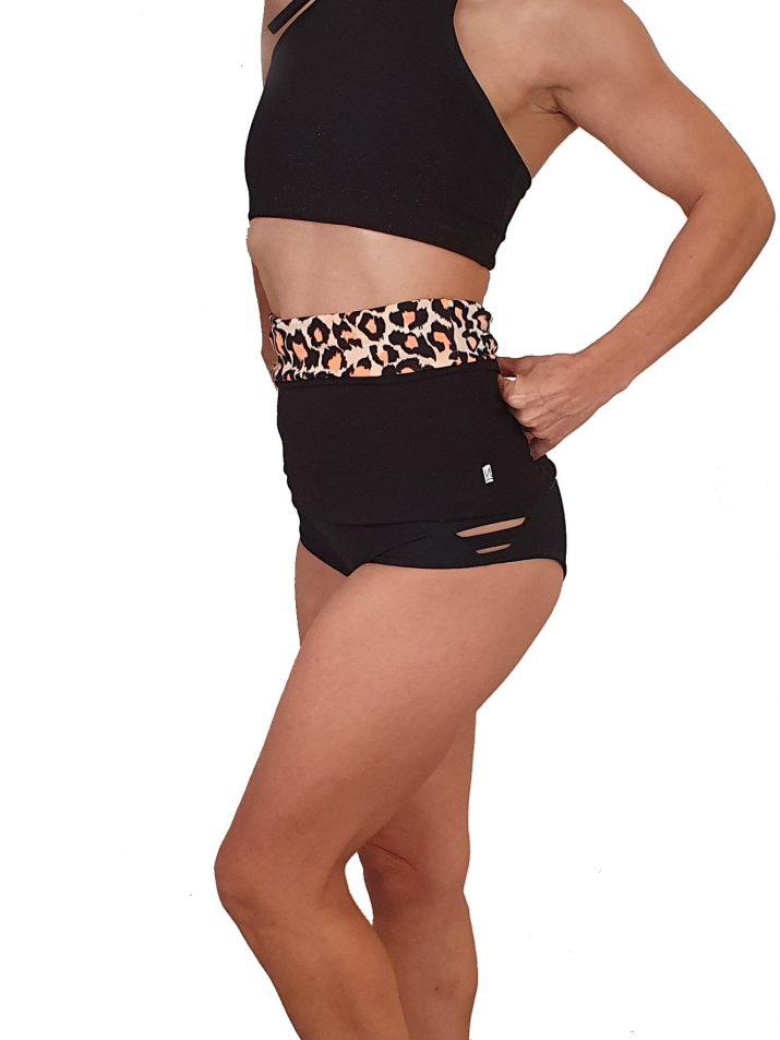 back warmer orange puma print for dancers black
